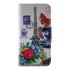 Для Кейс для iPhone 6 / Кейс для iPhone 6 Plus Кошелек / Бумажник для карт / со стендом Кейс для Чехол Кейс для Эйфелева башня Твердый
