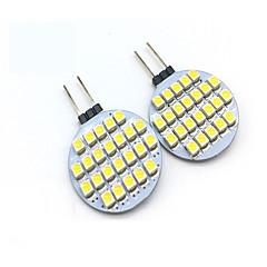 お買い得  LED 電球-2W G4 LED2本ピン電球 T 24 LEDの SMD 3528 装飾用 温白色 クールホワイト 200lm 3000/6000K DC 12V