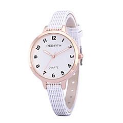 preiswerte Tolle Angebote auf Uhren-REBIRTH Damen Quartz Armbanduhr / Armbanduhren für den Alltag PU Band Freizeit Minimalistisch Modisch Schwarz Weiß Rot Braun Rosa
