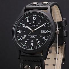 お買い得  大特価腕時計-男性用 リストウォッチ クォーツ ブラック / グリーン カレンダー ハンズ カジュアル - グリーン ハンターグリーン カーキ色 1年間 電池寿命 / ステンレス / SSUO 377