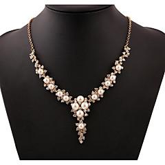 Mujer Collares con colgantes Strands Collares Y-Collares Perla Legierung Moda Adorable Nupcial Blanco Joyas Boda Fiesta Diario 1 pieza