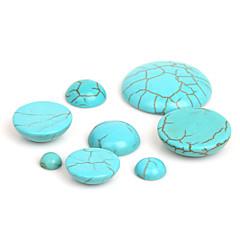 beadia 50db szintetikus türkiz kő 6mm kupola cabochons gyöngyök