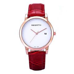 preiswerte Herrenuhren-REBIRTH Damen Armbanduhr Quartz Kalender PU Band Analog Freizeit Modisch Minimalistisch Schwarz / Rot / Braun - Schwarz Braun Rot