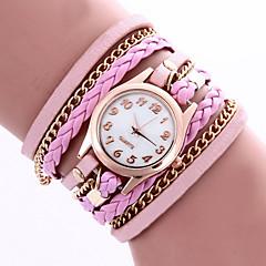 preiswerte Damenuhren-Damen Armband-Uhr / Armbanduhr / Leder Band Blume / Böhmische / Modisch Schwarz / Weiß / Blau
