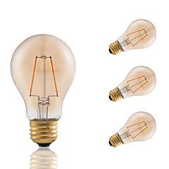 preiswerte LED-Birnen-3W E26 LED Glühlampen A60(A19) 2 COB 160 lm Bernstein Abblendbar Dekorativ AC 110-130 V 4 Stück