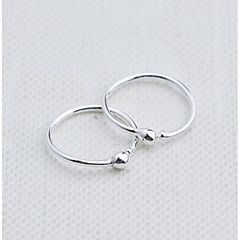 cheap Earrings-Women's Hoop Earrings / Clip Earrings - Sterling Silver Fashion Silver For Daily / Casual