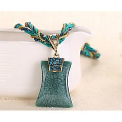 preiswerte Halsketten-Damen Geometrisch Anhängerketten - Modisch Blau, Leicht Grün, Königsblau Modische Halsketten Schmuck Für Hochzeit, Party, Alltag / Normal