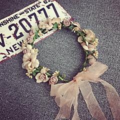 아름다운 한국어는 여자 결혼식 파티 휴가 머리 보석 꽃 화환 헤드 밴드 장미