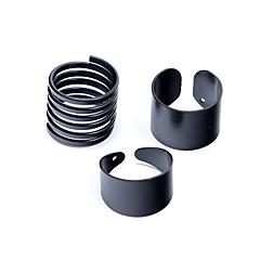 preiswerte Ringe-Damen Bandring - Silber Liebe Personalisiert Eine Größe Schwarz Für Hochzeit Party Geschenk / 3 Stück
