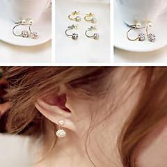 preiswerte Ohrringe-Damen Ohrstecker - Perle, Strass Klassisch Silber / Golden Für Party Alltag Normal