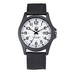 preiswerte Tolle Angebote auf Uhren-Herrn Quartz Armbanduhr Armbanduhren für den Alltag Stoff Band Freizeit Schwarz