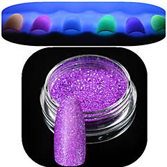 voordelige -1 fles nail art mooie noctilucent poeder kleurrijke glitter glanzende nagel schoonheid decoratie yg01-06 willekeurige levering