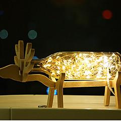 お買い得  LEDアイデアライト-1個創造主導ビューローランプオリジナリティのベッドサイドランプ木質花火の表示と提灯の夜の光の海