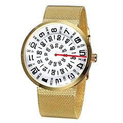preiswerte Tolle Angebote auf Uhren-Herrn / Damen Armbanduhr Wasserdicht Legierung Band Freizeit / Modisch Silber / Braun / Gold