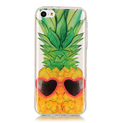 お買い得  iPhone 5S/SE ケース-ケース 用途 Apple iPhone 6 / iPhone 6 Plus IMD / 超薄型 / クリア バックカバー 果物 ソフト TPU のために iPhone 6s Plus / iPhone 6s / iPhone 6 Plus