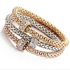preiswerte Armbänder-Damen Wickelarmbänder - Strass Modisch Armbänder Golden / Regenbogen Für Weihnachts Geschenke / Hochzeit / Party