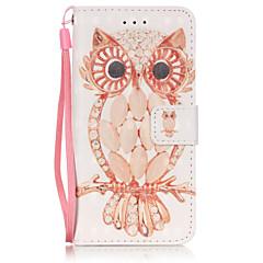 Для Кейс для iPhone 6 / Кейс для iPhone 6 Plus Кошелек / Бумажник для карт / со стендом Кейс для Чехол Кейс для Сова МягкийИскусственная