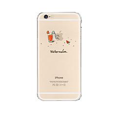 Недорогие Кейсы для iPhone 6 Plus-Кейс для Назначение Apple iPhone X / iPhone 8 Plus / iPhone 6 Plus Прозрачный Кейс на заднюю панель Композиция с логотипом Apple Мягкий ТПУ для iPhone X / iPhone 8 Pluss / iPhone 8