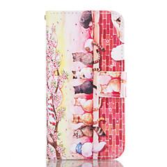 voordelige Galaxy A5 Hoesjes / covers-hoesje Voor Samsung Galaxy Samsung Galaxy hoesje Kaarthouder Portemonnee met standaard Flip Volledig hoesje dier Zacht PU-nahka voor A3