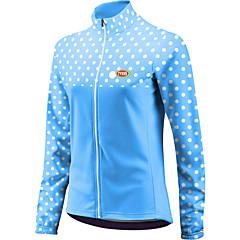 Sportok Kerékpározás Felsők Női Bike Légáteresztő / Cipzár / Viselhető / Lagani materijali Hosszú ujj Terylene / Coolmax / LYCRAPöttyös /