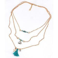 preiswerte Halsketten-Damen Mehrschichtig Ketten / Statement Ketten / Layered Ketten - Quaste, Modisch, Mehrlagig Blau Modische Halsketten Für Hochzeit, Party, Alltag