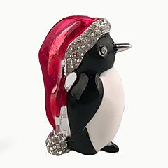 선물로 여성의 사랑스러운 작은 동물 브로치 크리스마스 보석 합금 에나멜 크리스탈 라인 석 매일 / 캐주얼 브로치