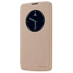 Kompatibilitás LG tok tokok Betekintő ablakkal Automatikus készenlét / ébresztés Flip Jeges Teljes védelem Case Tömör szín KeményMűbőr