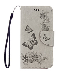 Varten Samsung Galaxy S7 Edge Lomapkko / Korttikotelo / Tuella / Flip / Koristeltu / Kuvio Etui Kokonaan peittävä Etui Perhonen Pehmeä