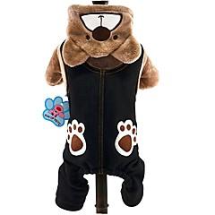 お買い得  猫の服-ネコ 犬 コスチューム パーカー ジャンプスーツ 犬用ウェア 動物 グレー Brown コーデュロイ コスチューム ペット用 男性用 女性用 キュート コスプレ 保温