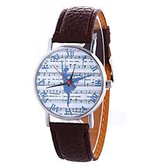 Dámské Módní hodinky Křemenný Digitální Fáze Měsíce PU Kapela Přívěšky Vintage Sladkosti Na běžné nošení Cool Černá Bílá