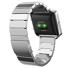 Черный / Роуз / Золотистый / Серебристый Нержавеющая сталь Спортивный ремешок Для Fitbit Смотреть 23мм