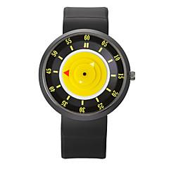 お買い得  メンズ腕時計-男性用 リストウォッチ クォーツ クール シリコーン バンド ハンズ ヴィンテージ カジュアル ファッション ブラック - ブルー ピンク ブラック / シルバー 1年間 電池寿命