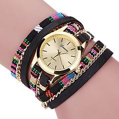Damen Modeuhr Armband-Uhr Armbanduhren für den Alltag Quartz / Stoff Band Böhmische Cool Bequem Schwarz Blau Rot Grau Rosa LilaGrau