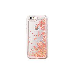 Недорогие Кейсы для iPhone 5-Кейс для Назначение Apple iPhone X / iPhone 8 / iPhone 8 Plus Движущаяся жидкость / Прозрачный Кейс на заднюю панель Сияние и блеск Твердый Силикон для iPhone X / iPhone 8 Pluss / iPhone 8
