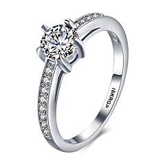 voordelige Ringen-Bandringen Sterling zilver Zirkonia Kubieke Zirkonia 18K goud Modieus Vintage PERSGepersonaliseerd Hypoallergeen Zilver SieradenBruiloft