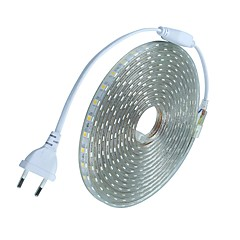 abordables Tiras LED Flexibles-10m 600 LED 5050 SMD Blanco Cálido / Blanco / Rojo Cortable / Impermeable 220 V