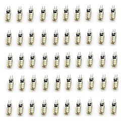お買い得  LED 電球-50個 2 W 90-110 lm G4 LED2本ピン電球 T 24 LEDビーズ SMD 3014 装飾用 温白色 / クールホワイト 12 V / RoHs