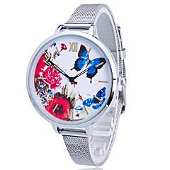 お買い得  レオパードパターン 腕時計-女性用 子供用 ドレスウォッチ ファッションウォッチ カジュアルウォッチ リストウォッチ 多色 クォーツ ステンレス バンド 蝶型 フラワー レオパード チャーム ゴールド