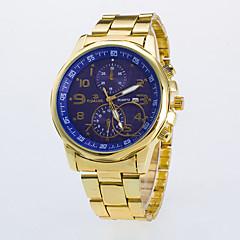 preiswerte Herrenuhren-Herrn Armbanduhr Quartz Armbanduhren für den Alltag / Rose Gold überzogen Legierung Band Analog Freizeit Kleideruhr Gold - Schwarz Blau