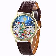 お買い得  大特価腕時計-女性用 ファッションウォッチ ドレスウォッチ リストウォッチ クォーツ 30 m / PU バンド ハンズ スノーフレーク柄 ブラック / 白 / ブルー - Brown レッド ブルー 1年間 電池寿命 / SODA AG4