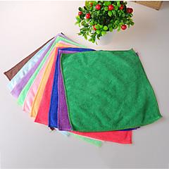 abordables Limpieza de cocina-pequeña de lavado práctica hasta la plaza toalla de la fibra ultrafina multifunción color al azar