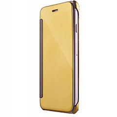 Для Кейс для iPhone 7 / Кейс для iPhone 7 Plus / Кейс для iPhone 6 Зеркальная поверхность / Флип Кейс для Чехол Кейс для Один цвет Твердый
