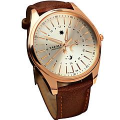 お買い得  大特価腕時計-YAZOLE 男性用 クォーツ リストウォッチ / ホット販売 レザー バンド カジュアル クール ブラック ブラウン