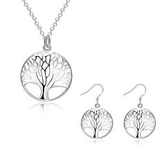 hesapli -Kadın Takı Seti Kolye / Küpe Moda Avrupa Günlük Som Gümüş Gümüş Kaplama Kolczyki Kolyeler