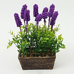 Set of 1 PCS 1 şube Polyester Açık Mavi Masaüstü Çiçeği Yapay Çiçekler 7.8