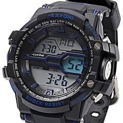 Herre Sportsur Militærur Modeur Armbåndsur DigitalLED LCD Kalender Kronograf Vandafvisende Selvlysende Stopur Selvlysende i mørke Chok