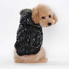 お買い得  猫の服-ネコ 犬 コート パーカー 犬用ウェア ソリッド ブラック コーヒー レッド ブルー コットン コスチューム ペット用 男性用 カジュアル/普段着 保温