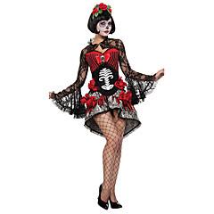Χαμηλού Κόστους Αποκριάτικο Μακιγιάζ-Φανταστική νύφη Στολές Ηρώων Κοστούμι πάρτι Γυναικεία Halloween Γιορτές / Διακοπές Κοστούμια Halloween Μονόχρωμο