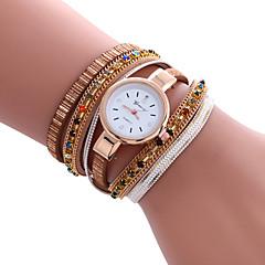 preiswerte Tolle Angebote auf Uhren-Damen Armband-Uhr Modeuhr Armbanduhren für den Alltag Quartz / PU Band Freizeit Cool Schwarz Weiß Blau Rot Gold