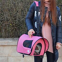 قط / كلب الحاملة حقائب تحمل على الظهر وللسفر / حقيبة حبال حيوانات أليفة حاملات المحمول / متنفس أسود / أزرق / وردي / ورد نايلون